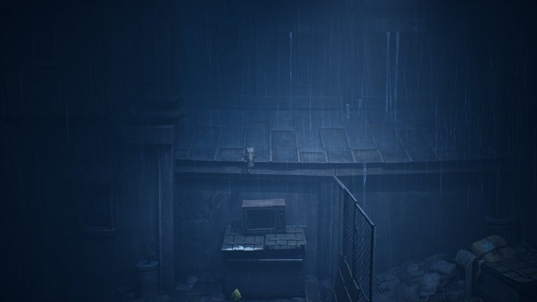 Little Nightmares II Game Guide - This dumpster has a TV on it