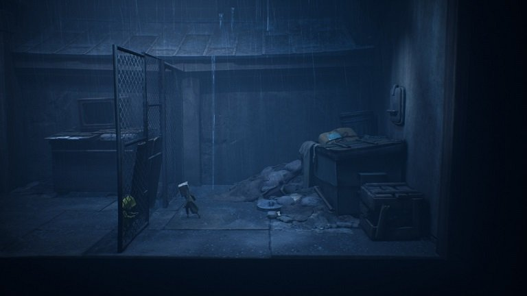 Little Nightmares II Game Guide - Use this dumpster to climb over the fence