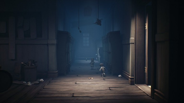 Little Nightmares II Game Guide - Watch out for the falling locker