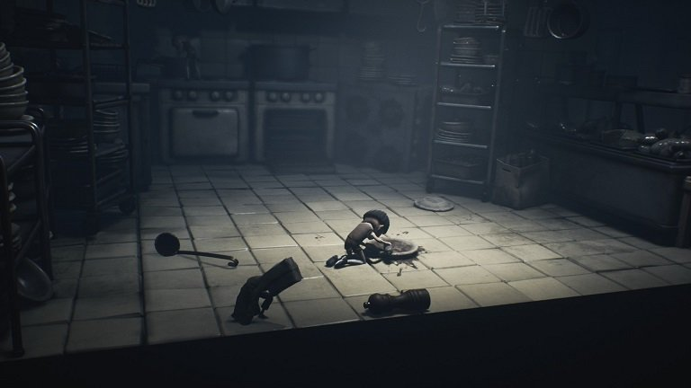 Little Nightmares II Game guide - Get the ladle from the school kitchen floor