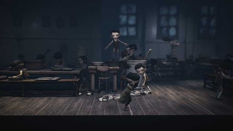 Little Nightmares II Game guide - Keep on moving in the cafeteria despite of the kids
