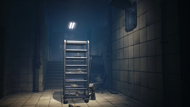 Little Nightmares II Game guide - Mono moving the rolling cart to the right side
