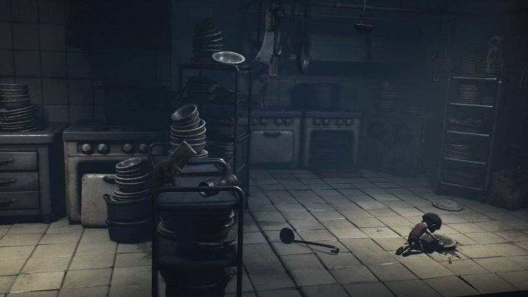 Little Nightmares II Game guide - Move quick in the kitchen with combat using the ladle
