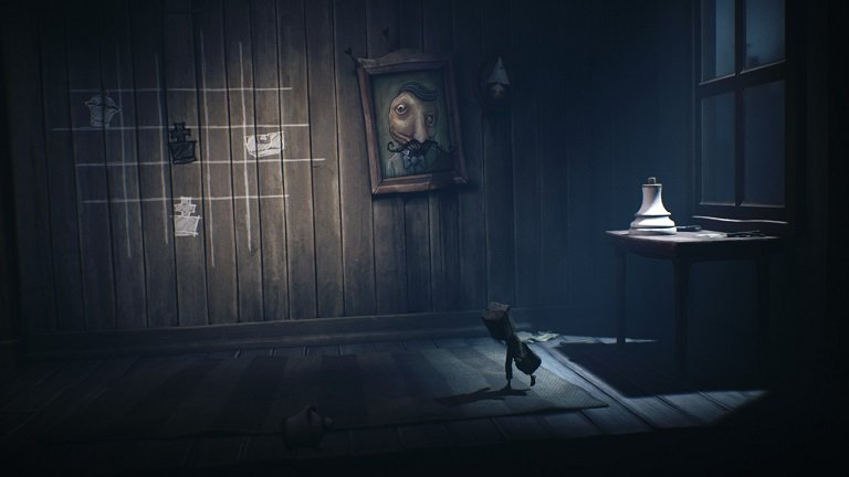 Little Nightmares II Game guide - White queen chess piece is on the table and move the piece on chessboard