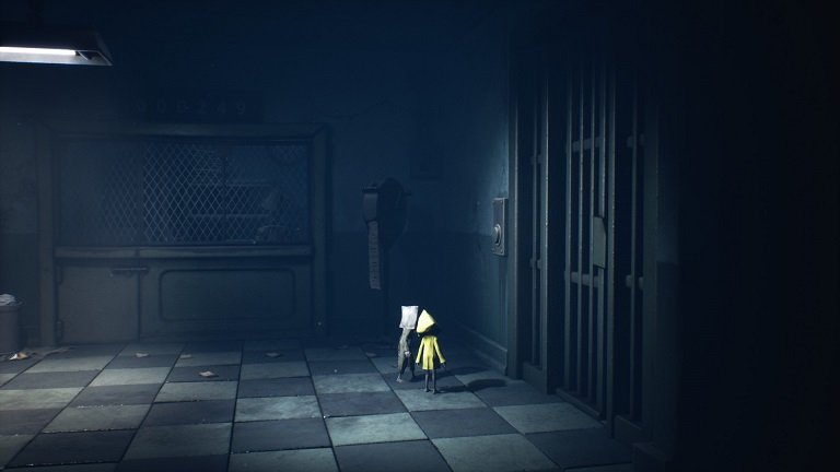 Little Nightmares II Hospital Walkthrough Guide – Throw can at the button elevator door