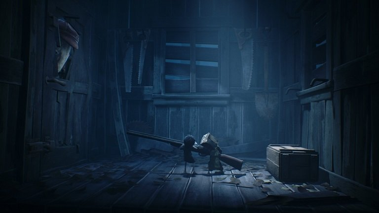 Little Nightmares II game guide - Use the shotgun to end the threat of hunter