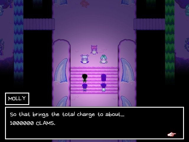 Omori Game Guide - Molly - So that brings the total charge to about 1000000 clams
