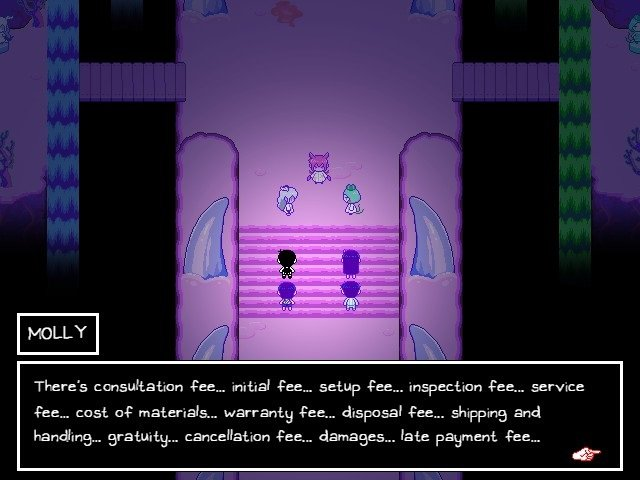 Omori Game Guide - Molly - There is consultation fee initial fee setup fee inspection fee service fee