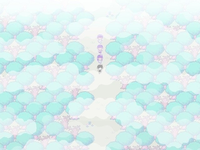 Omori Walkthrough Gameplay Guide - Walking in forest direction south