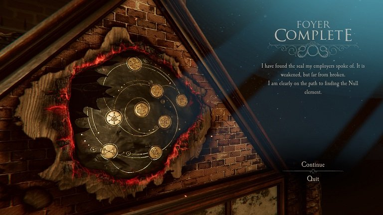 The Room 4 Old Sins Walkthrough Guide - Foyer complete - I have found the seal my employers spoke of
