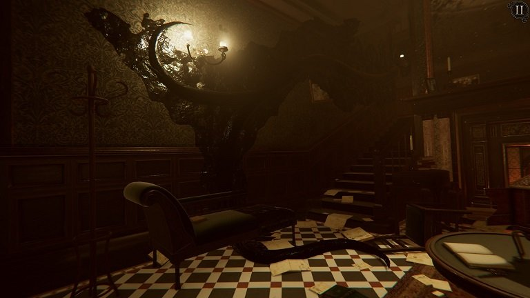 The Room 4 Old Sins Walkthrough Guide - It starting to get dark in the foyer
