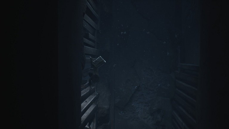 Elevator Puzzle In Little Nightmares II - Mono climbs the wall outside elevator