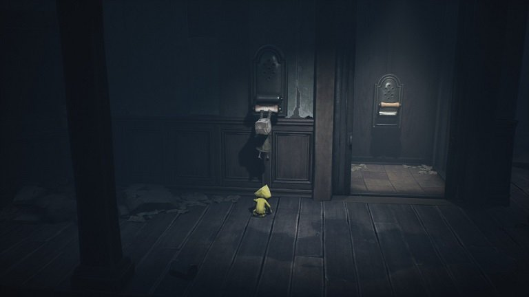 Elevator Puzzle In Little Nightmares II - Pull the lever of the elevator