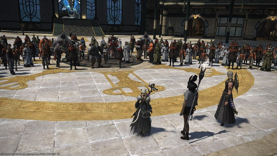Final Fantasy XIV - Crystarium together and make a passionate speech about how the Warriors of Light were not all bad