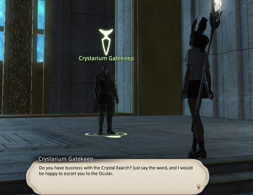Final Fantasy XIV Facing The Truth - Crystarium Gatekeep - Do you have business with the Crystal Exarch