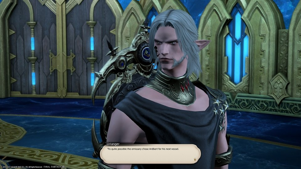 Final Fantasy XIV - Facing The Truth - Urianger - Tis quite possible the emissary chose Ardbert for his next vessel