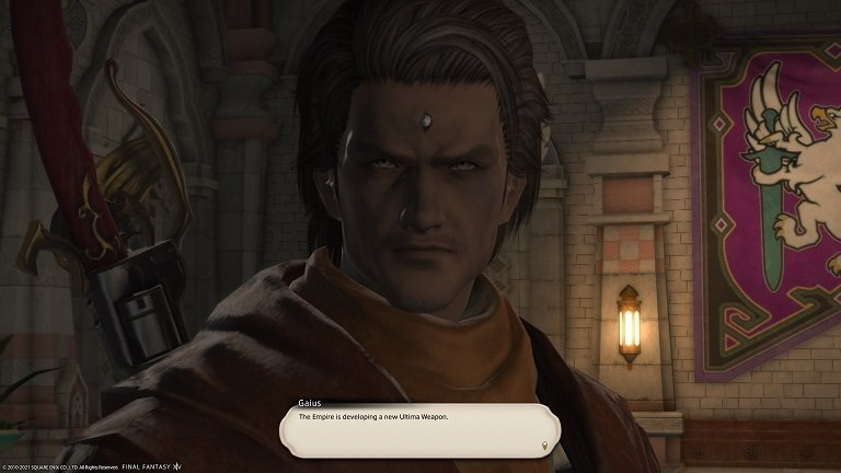 Final Fantasy XIV Old Enemies and New Threats - Gaius - The Empire is developing a new Ultima weapon