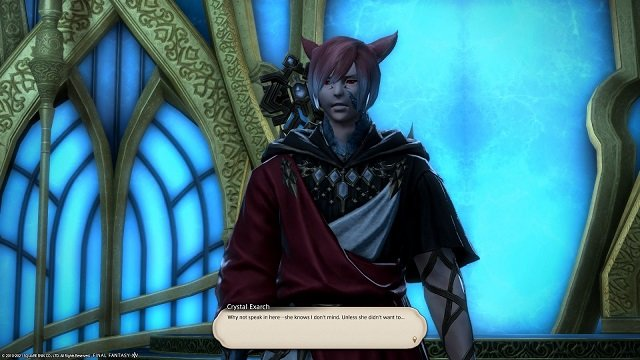 Final Fantasy XIV The Way Home - Crystal Exarch - Why not speak here - she knows I do not mind