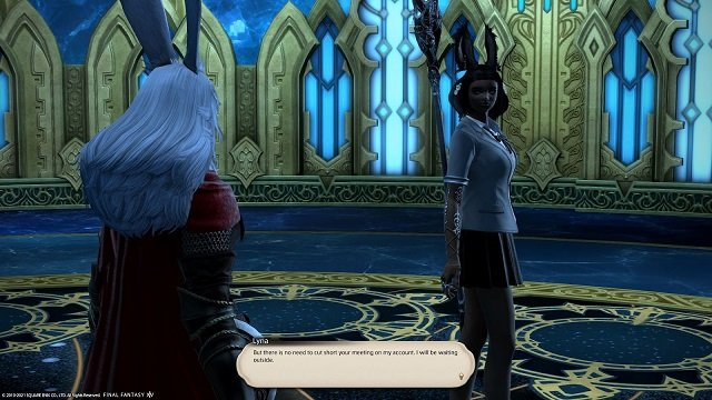 Final Fantasy XIV The Way Home - Lyna - But there is no need to cut short your meeting on my account