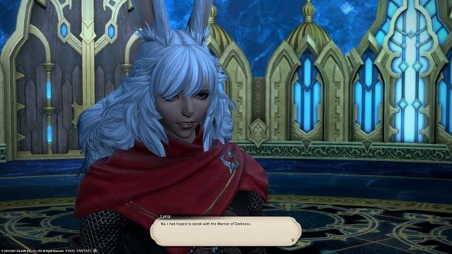 Final Fantasy XIV The Way Home - Lyna - No I had hoped to speak with the Warrior of Darkness