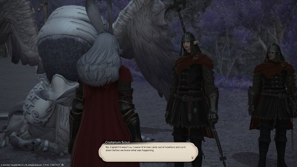 Final_Fantasy XIV - Crystarium Scout - No Captain It was not us I swear It A man came out of nowhere