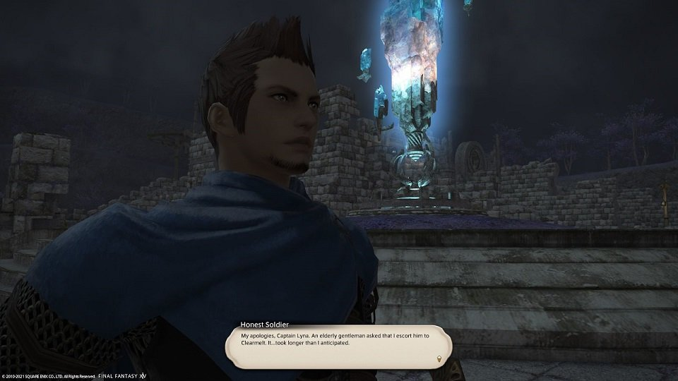 Final_Fantasy XIV - Honest Soldier - My apologies Captain Lyna An elderly gentleman asked