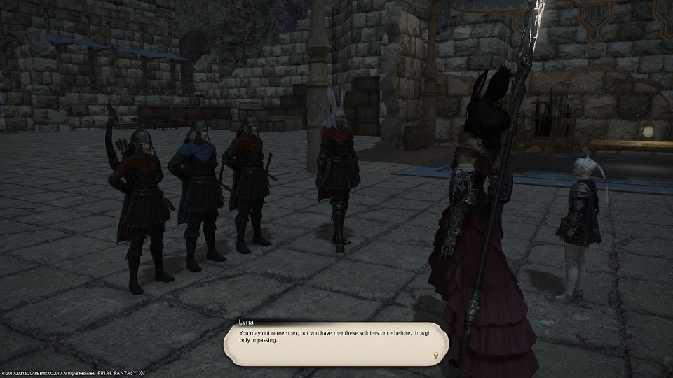 Final_Fantasy XIV - Lyna - You may not remember but you have met these soldiers once before