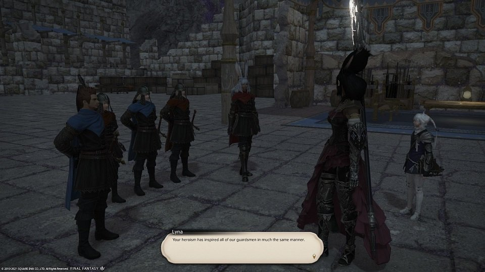 Final_Fantasy XIV - Lyna - Your heroism inspired all of our guardism in much the same manner