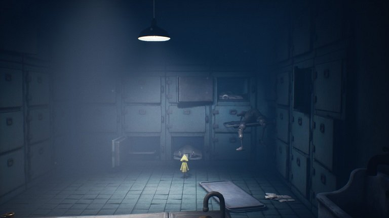 Little Nightmares 2 Game guide - Run back to the morgue to get the first tray out