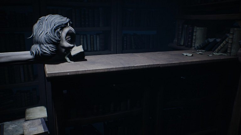 Little Nightmares 2 How To Slide - On the school book shelves