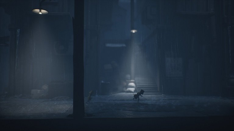 Little Nightmares 2 Walkthrough Game Guide - Mono and Six sprinting on the street