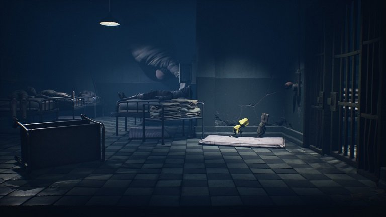 Little Nightmares II Hospital Walkthrough Guide – Mono and Six leaving ward room