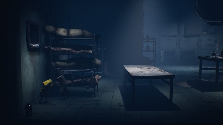 Little Nightmares II Hospital Walkthrough Guide – Mono and Six under the shelves at left