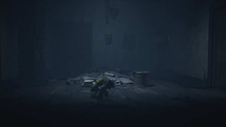 Little Nightmares II Pale City Walkthrough – Crouching past a viewer