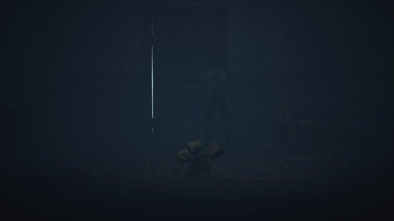 Little Nightmares II Pale City Walkthrough – Crouching past the viewers into the room