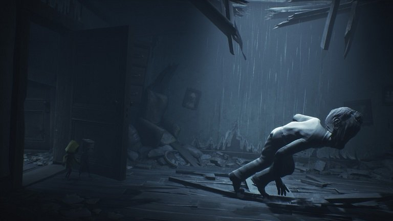 Little Nightmares II Pale City Walkthrough – Man dropping from the ceiling