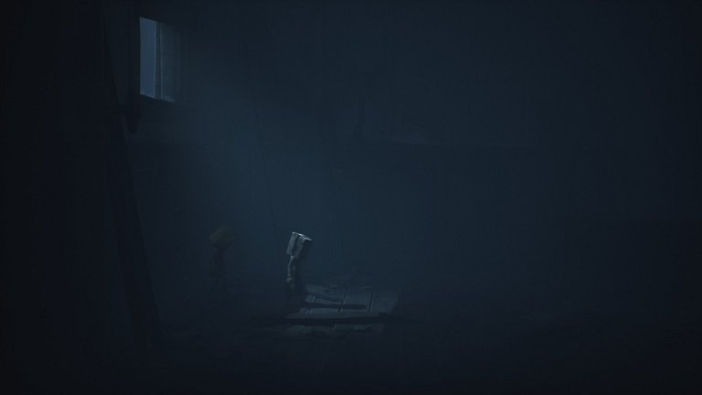 Little Nightmares II Pale City Walkthrough – Mono entering into darkened room