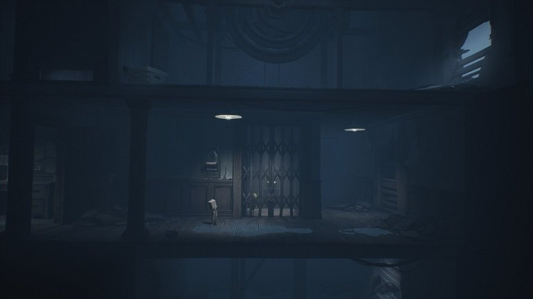 Little Nightmares II Pale City Walkthrough Guide - Getting on top of the elevator