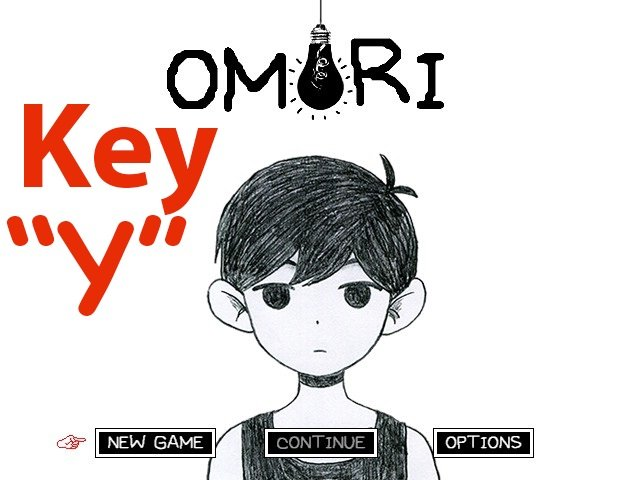 Where is the Y key in Omori